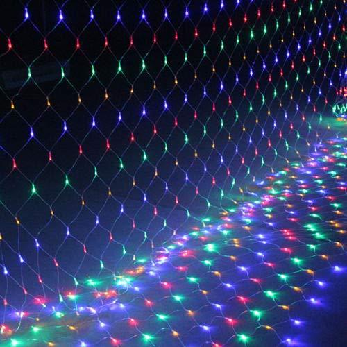 FROADP 6x2 m LED wasserdichte Indoor Outdoor Net lights Lichternetz Vorhang Lichter Netz Beleuchtung Deko Weihnachten Halloween Hochzeit Party oder Stimmung Lichter(Bunt)