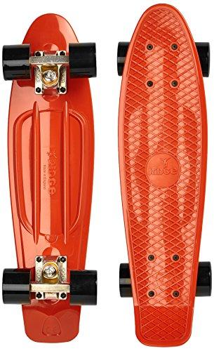 Ridge Skateboard Organics Range, Verbrannt Orange/Schwarz, 22 Zoll, R22-SILTK (Zoll 22 Shorts)