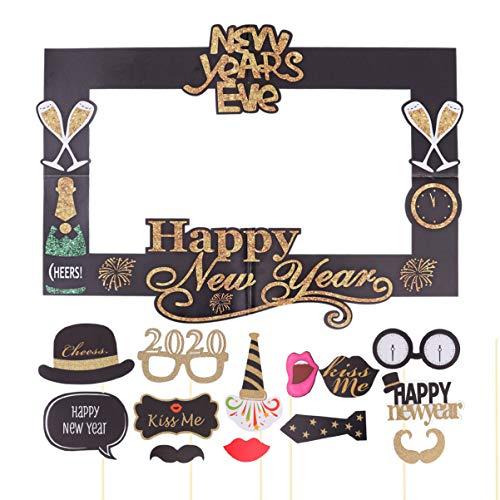 Amosfun 15 piezas 2020 Feliz Año Nuevo Photo Booth