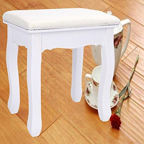 Vintage weiße Schminktisch Hocker Stuhl Make-up Seat Home Schlafzimmer