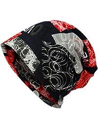 76ebea8c30b9 Aesy Skullies Bonnets L automne Décontractée Bonnets Chimio Chapeau UV  Protection Respirant Élastique Imperméable Chapeau