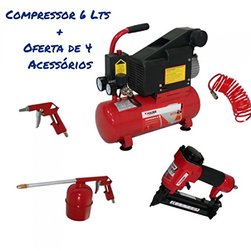 Compresor De Aire Mono Bloco 6L 1.5Hp regalo Kit Máquina
