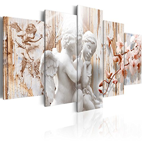 murando - Bilder 200x100 cm Vlies Leinwandbild 5 TLG Kunstdruck modern Wandbilder XXL Wanddekoration Design Wand Bild - Engel Orchidee h-C-0001-b-m