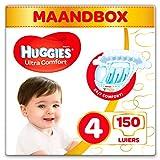 Huggies Ultra Comfort Baby Luiers Maat: 4, 150 Stuks, Wit