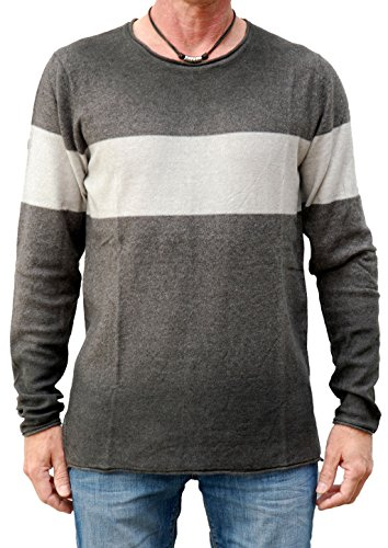Khujo,Herren Pulli, Pat Light Grey Melange