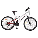 #3: TXED AF- 17 Sports Bicycle 26T 21 Speed 26 Inch Cycle For Mens/Boys/Adults - White Red Cycle
