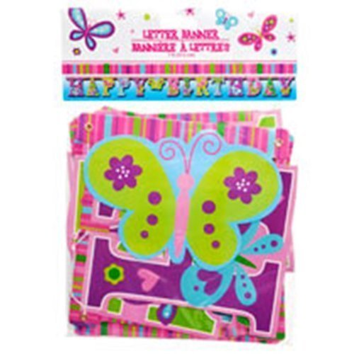 Happy Birthday Butterfly Letter Banners, 7 ft. by Greenbrier (Happy Birthday Butterfly)