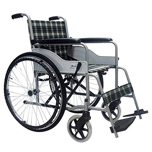 FDHLTR Sedia da Viaggio per sedie a rotelle, Rinforzo in Tubo di Acciaio per Anziani disabili, Trasporto Leggero per Auto da Viaggio Pieghevole Portatile aiuti alla deambulazione