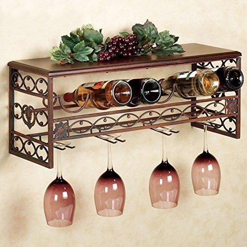 Ferro parete vino rack vino rack montato armadietto usato  Spedito ovunque in Italia