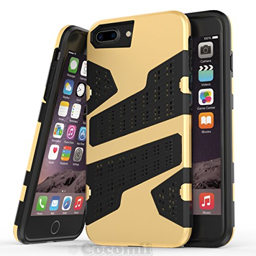 iPhone 8 Plus / 7 Plus / 6S Plus / 6 Plus Hülle, Cocomii Deadpool Armor NEW [Heavy Duty] Premium Tactical Grip Slim Fit Shockproof Hard Bumper Shell [Military Defender] Full Body Dual Layer Rugged Cov Gold