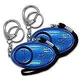 xinyinuo 2 stück blauen uv - mini - panikattacke starke persönliche sicherheit schlüsselbund vergewaltigung persönliche sicherheit alarm mit fackel 140db