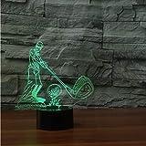 Shuyinju 3D Visual Lampada Da Tavolo Usb Acrilico Golfball 7 Colori Che Cambiano La Luce Di Notte Led Play Golf Bedside Light Fixture Regali Bedroom Decor