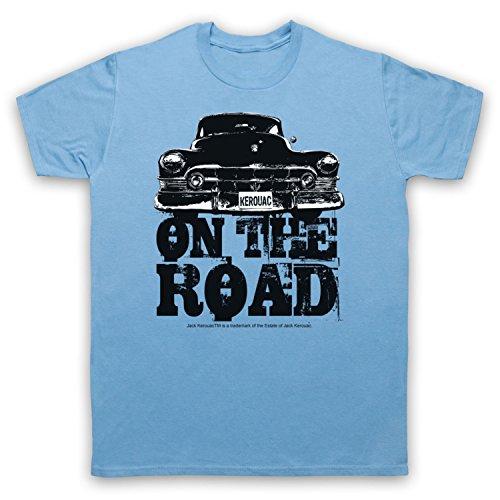 Jack Kerouac On The Road Car Herren T-Shirt Hellblau