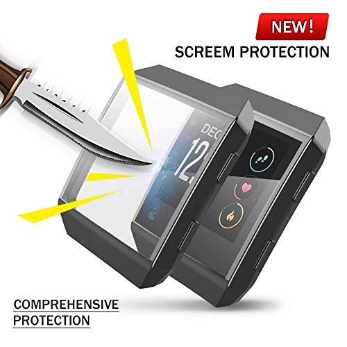 Für Fitbit Ionic Hülle, KTcos TPU Schutzfolie Allround-Schutzhülle High Definition Clear Ultradünne Schutzhülle für Fitbit Ionic Smart Fitness Watch (Schwarz)
