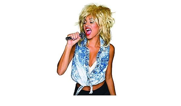 Parrucca anni 80 da cantante Bristol Novelty Donna