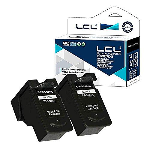 LCL Cartucce Visualizza la quantità di inchiostro Rigenerate PG540 PG-540 PG540XL PG-540XL (2 Nero) Sostituzione per Canon Pixma MG2250/MG2150/MG3150/3250/4250/4150/MX435/375/515/MG3650/3550/MG4100/MG4150 /MG4200/MG4250?not Sostituzione per TS3150