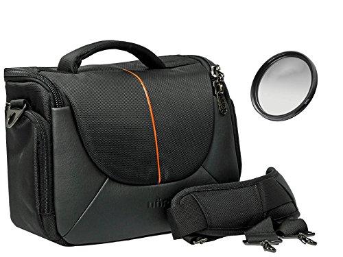 Foto Kamera Tasche Yuma L Set Plus Polfilter 58mm für Canon EOS 80D 100D 700D 750D 760D 1200D 1300D mit 18-55mm is Objektiv