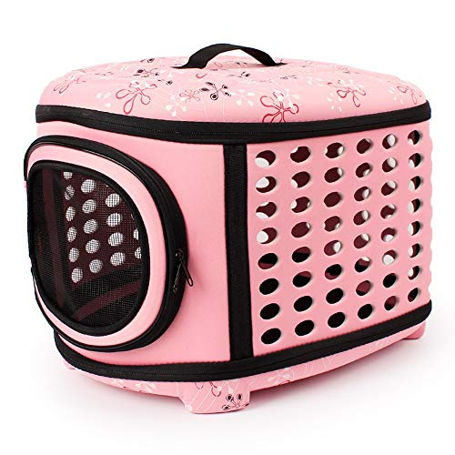 Portable Exercise Kennel - Pet Hund Katze Laufstall Cage - Indoor & Outdoor Verwenden - Pet's New Home,Pink,45 * 32 * 38Cm