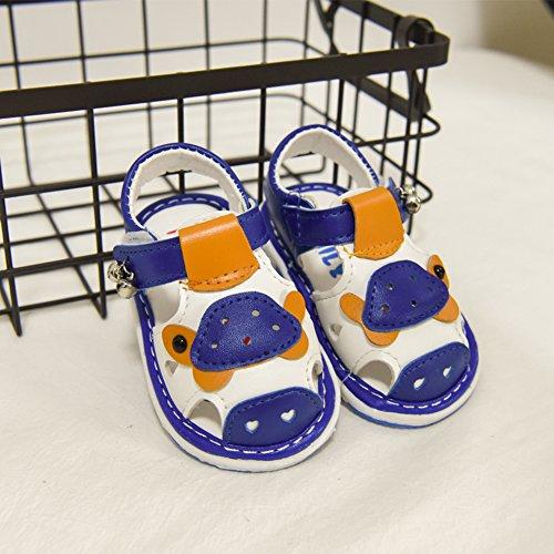 Scothen Chaussures de sandales en cuir pour bébé tout-petits garçon nubuck perdre sa féminité bébé sandales garçons Chaussures bébé tout-petits sandales d'été garçon bébé chaussures fille Bleu