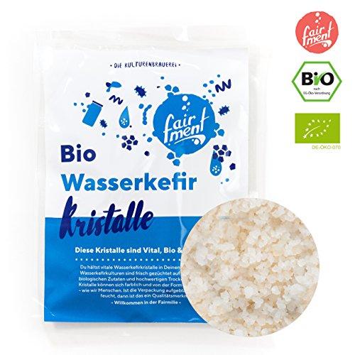Original Wasserkefir Kristalle Starterkulturen für unendlich viel Wasser-Kefir mit Anleitung und...