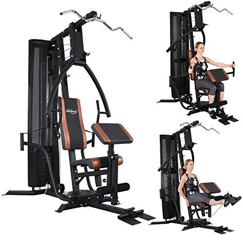 Physionics multifunktionale Fitnessstation unterschiedliche Möglichkeiten für Rücken-, Brust-, Schulter-, Arm-, Bauch- und Beinübungen