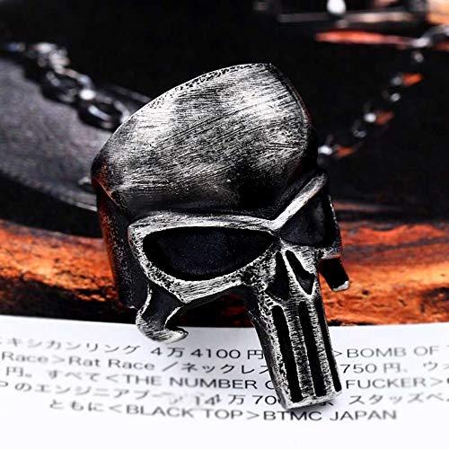 len Edelstahl Mode Punisher schwarzer Ring Punk einzigartige Männer Schmuck, 11. ()