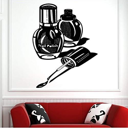 (Mhdxmp Wand Fenster Aufkleber Nagelstudio Dekoration Nail Art Polnischen Maniküre Pediküre Wandaufkleber Abnehmbare Nagel Shop Wandkunst Decal33 * 42Cm)