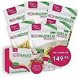 Confezione di combinazione: 40 Konjac Spaghetti 40 Konjac Noodles 20 Konjac Riso Rice, 200gr / sacchetto