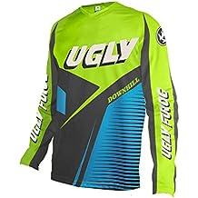 UGLYFROG Camisetas Hombre Manga Larga MTB Downhill Jersey Mountain Bike Ropa, Motocicleta Jersey Mountain Mountain