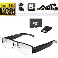 Occhiali 1080P HD Spy Camera Mini DV lasciato lenti degli occhiali LS @ telecamere di sorveglianza / 32GB nascosto DVR V13 HD Spy Camera Audio Recorder obiettivo della fotocamera a 30 fps