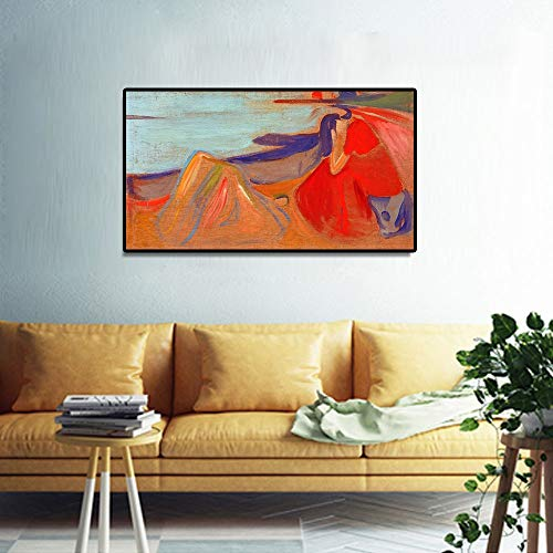 Geiqianjiumai Pintura al óleo Abstracta clásica melancólica póster de Arte e impresión de Lienzo...