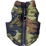 Generic Pet Dog Cotton Padded Vest Clothes Coat Jacket Apparel Size M - Camouflage