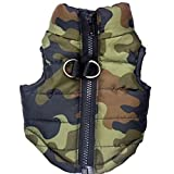 #10: Generic Pet Dog Cotton Padded Vest Clothes Coat Jacket Apparel Size M - Camouflage