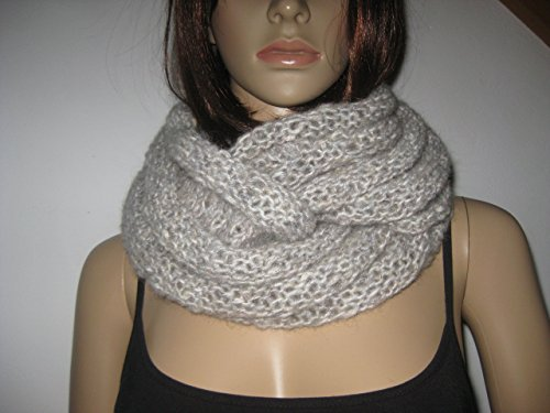 Loop-Schal mit Alpaka und Mohair, gestrickt, Schlauchschal -