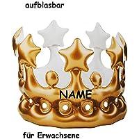 Krone   Golden Farben   Aufblasbar   Für Erwachsene   Lustiger Partyartikel    Königskrone   Fasching Karneval U0026 Geburtstag 30 / 40 / 50 / 60 Er    Scherz ...
