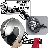 Helmhalter Helm Wandhalterung (100% Stahl) (weiß)