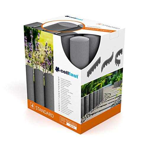 Cellfast Gartenpalisaden, grafitgrau, 23 x 25,5 x 5,5 cm, 4-er Packung