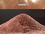 5kg garnet indiano 20 - 40 mesh sabbia abrasivo grana 0,40-0,85mm sabbiatrice e sverniciatura duri tenaci 7,5-8,0 mohs