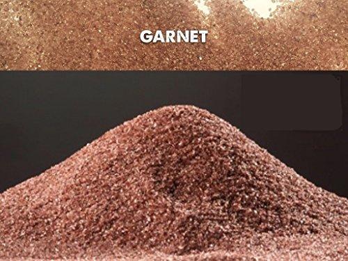 5kg garnet indiano 20 – 40 mesh sabbia abrasivo grana 0,40 - 0,85mm sabbiatrice e sverniciatura duri tenaci 7,5 - 8,0 mohs