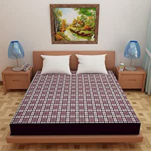 """Lithara Waterproof Dustproof Terry Cotton Mattress Protector for Single Bed - 72""""x48"""", Printed Design02"""