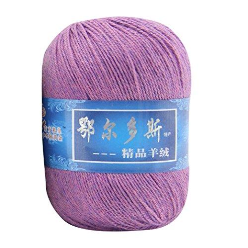 Huihong 1 Stück Weichen Kaschmir Handgestrickte Warm Mongolischen Wolle DIY Weben Faden Ca. 110m/43.3