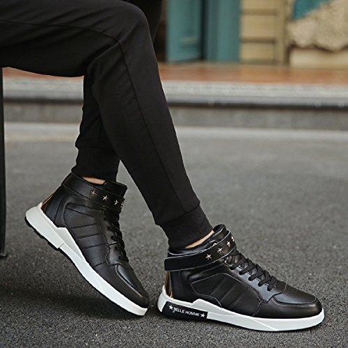 TQGOLD Scarpe da Ginnastica Sneakers Alte Sportive Fitness Uomo Nero