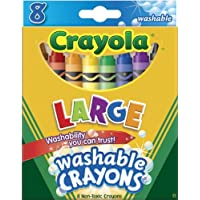Crayola Large Washable Crayons-8/Pkg by Crayola