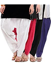 Crafts 100% Pure Solid Cotton Semi Patiala Salwar Bottoms Indoor Outdoor For Women's & Girls( Color Purple / White...