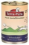 Pferd-Kartoffelmahlzeit für Hunde 400g Dose x 12 Terra Pura Für empfindliche Hunde