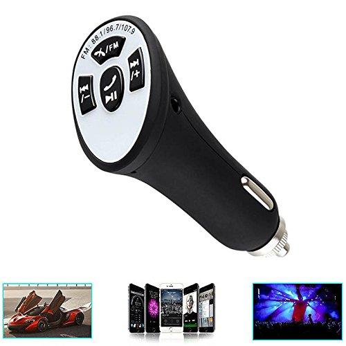 ZREAL FM Transmitter Auto-Ladegerät mit Bluetooth-Adapter Freisprecheinrichtung AUX-Kabel(#4) (Drahtlosen Fm-bluetooth)