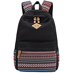 "Aeoss Backpack Girls Women Bohemian Aztec Tribal Print Bag (Black, Large ( 18.6"" x 12.7"" x 5.3"" inches ))"