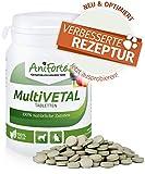 Vitaminas y Minerales Esenciales para Perros y Gatos (250 pastillas) - Multi Vetal | Producto Natural con Levadura de Cerveza, Cebada, Acerola y Acai | AniForte