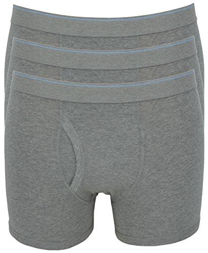 Ex Store Herren Boxershorts aus Baumwolle, mit elastischem Eingriff, 3er-Pack 3 Pack Grey