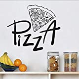 Pizzeria Pizza Adesivi murali Adesivi autoadesivi Vinile Carta da parati Decorazioni per la casa Per sala da pranzo Decorazioni per cucina 67X58 Cm